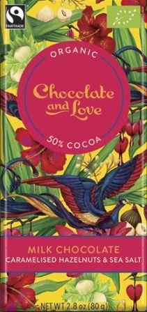 Chocolate & Love EkologiskMilk Hazelnut Seasalt 50 % 80 g