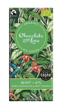 Chocolate & Love Ekologisk Mint 67 % 80 g