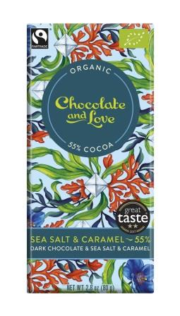 Chocolate & Love Ekologisk Sea Salt 55 % 80 g